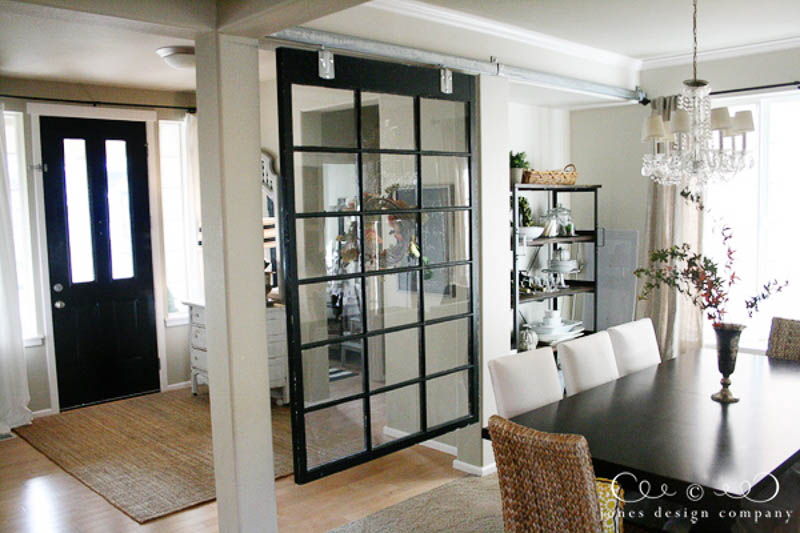 30+ Amazing Room Divider Ideas | Jones Design Vintage Window Room Divider Idea
