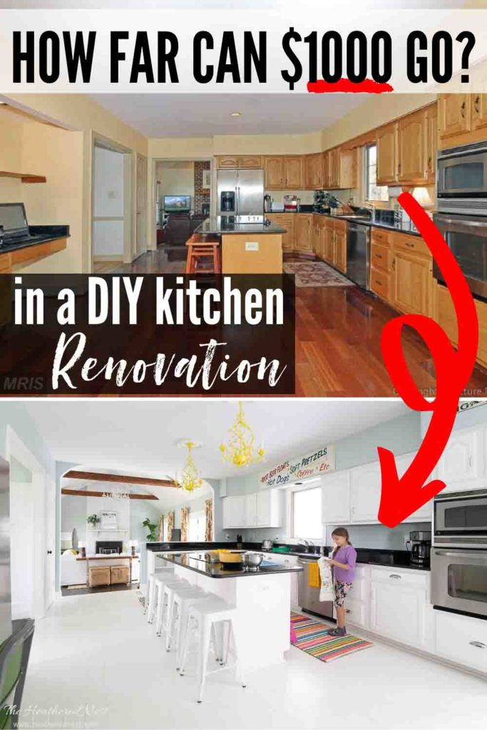1000 Diy Kitchen Remodel The Heathered Nest