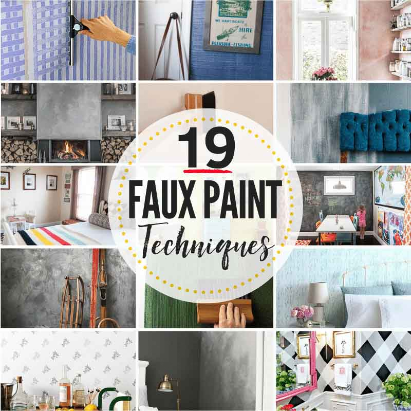 19 Faux Painting Techniques that don't SUCK