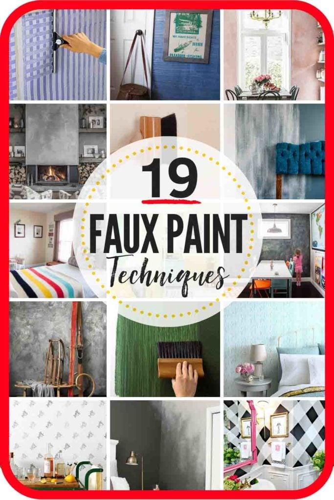 19 Faux Painting Techniques that don't SUCK