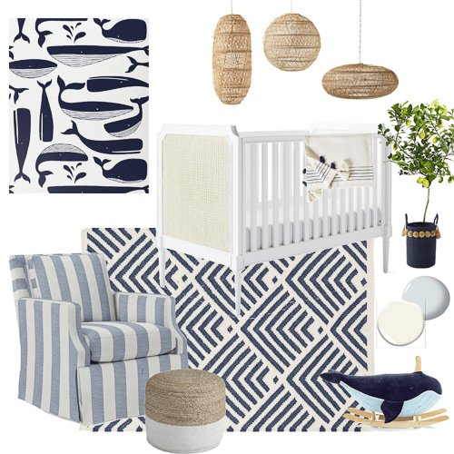 Coastal Nursery mood board
