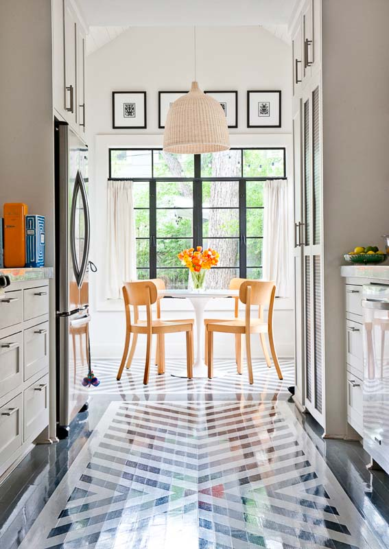 40+ painted floor ideas | black and white stripes Merrilee McGehee