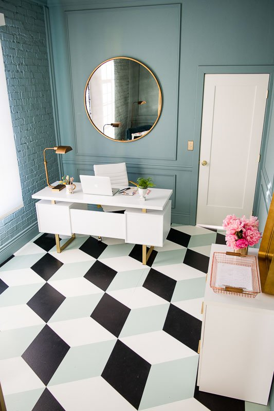 40+ Painted Floor Ideas that will WOW you! | House that Lars Built painted subfloor project
