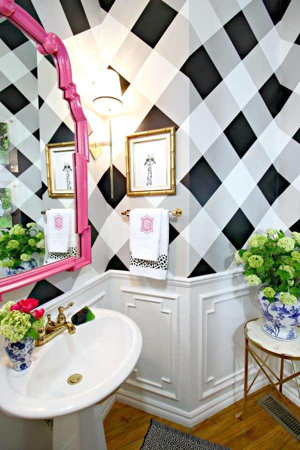 Faux Painting Techniques that don't SUCK | DIY Gingham Painted Walls Dimples & Tangles