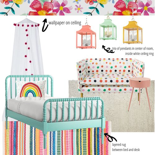 nesting e-design mood board examples - e-design services for childrens' spaces