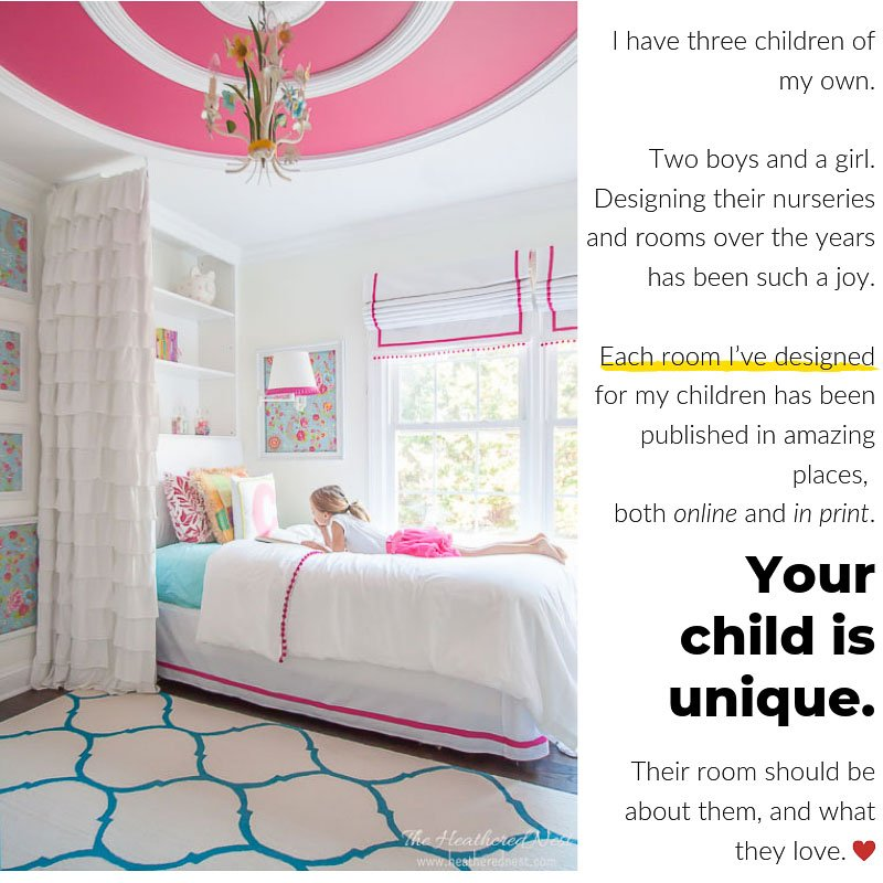 Nesting e-design services - online interior design service for kids rooms only! Nursery design, girl room design, boy room design and playroom design is all we do!