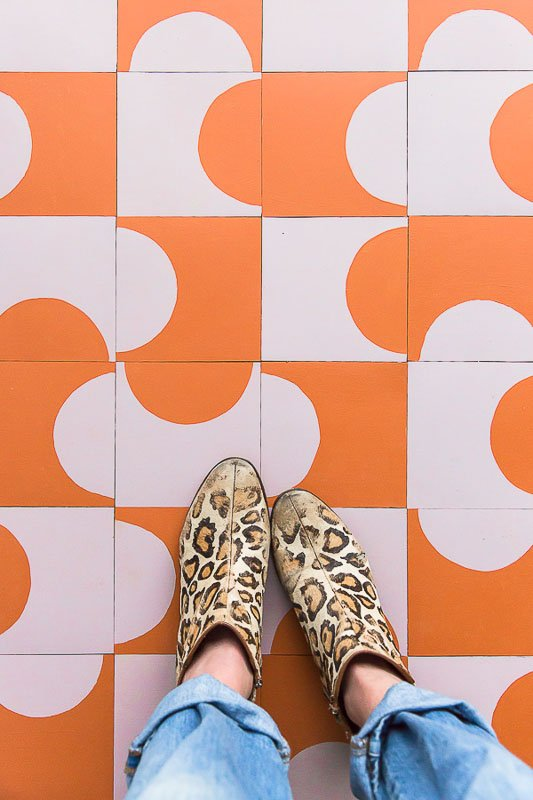 40+ Amazing Painted Floors Ideas | DIY Painted Vinyl Tiles Paper n Stitch