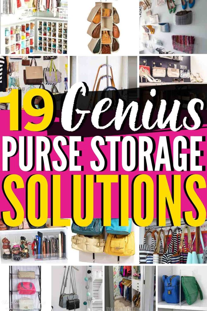 19 BEST Purse Storage Ideas Anywhere