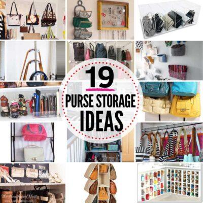 19 Genius Purse Storage Ideas