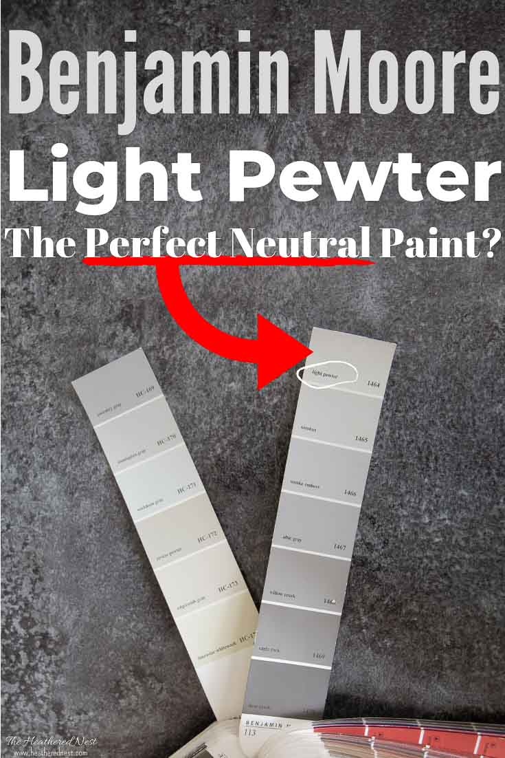 Exploring Benjamin Moore Light Pewter Paint Color - Pure White compared to Light Pewter