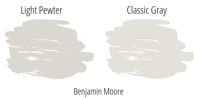 Exploring Benjamin Moore Light Pewter Paint Color vs BM Classic Gray