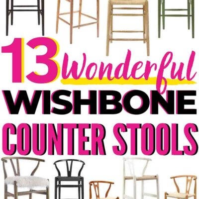 13 wonderful wishbone counter stools