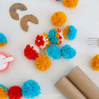 Four Popular Methods For DIY Pom Pom Making Include: Using a Fork, Using Cardboard, Using Toilet Paper Rolls and Using a Pom Pom Maker Tool