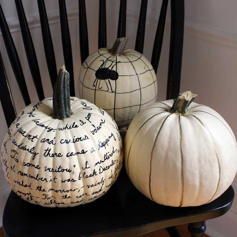 40+ NO CARVE Pumpkin Ideas You'll Want to Try This Fall!! Sharpie Pumpkins from Boxy Colonial