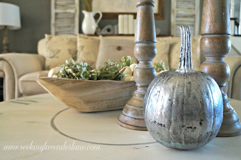 51 Cute Painted Pumpkin Ideas - Seeking Lavender Lane Mercury Glass Pumpkins