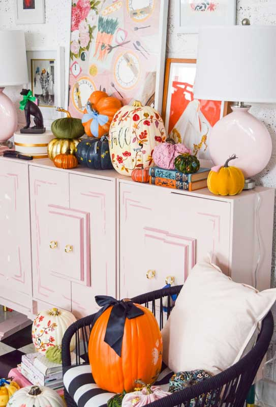 51 Cute Painted Pumpkin Ideas - PMQ For Two Fall Painted Pumpkin