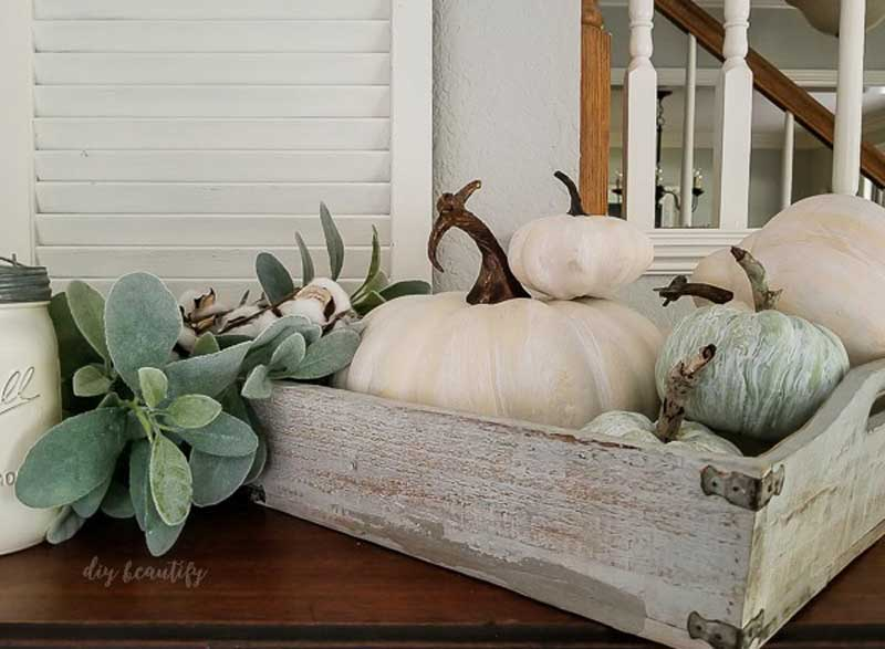 51 Cute Painted Pumpkin Ideas - DIY Beautify Whitewashed Farmhouse Pumpkins