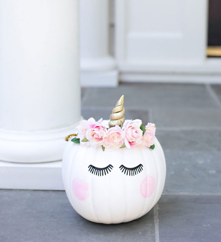51 Cute Painted Pumpkin Ideas - Unicorn Pumpkin Best Friends for Frosting