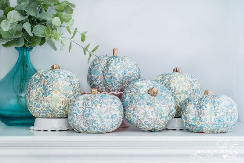 51 Cute Painted Pumpkin Ideas - Jenna Kate at Home Modge Podge Painted Pumpkins