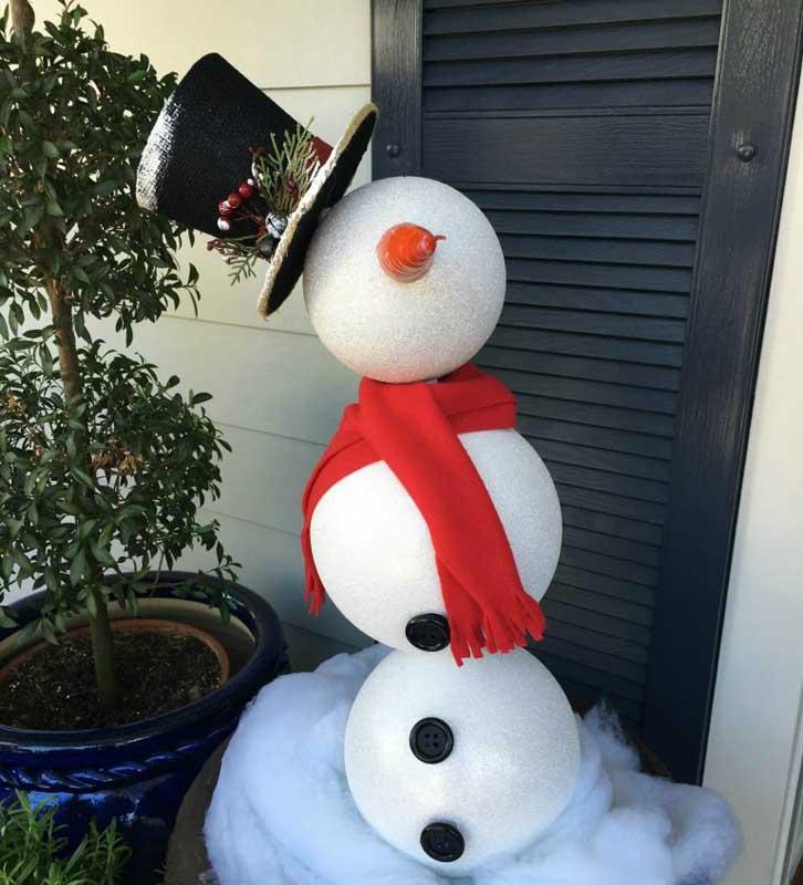 Snowman Topiary Craft | 51 CUTEST Snowman Crafts