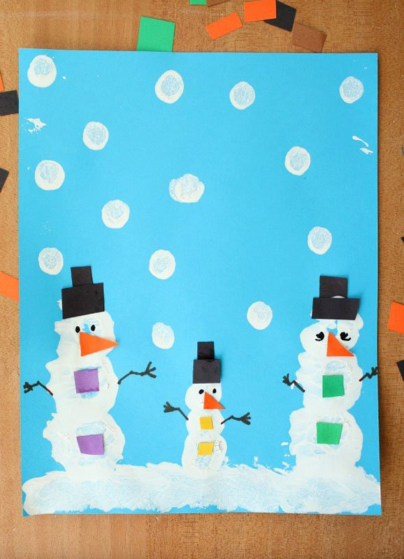 51 CUTEST Snowman Crafts | Easy painted snowman craft