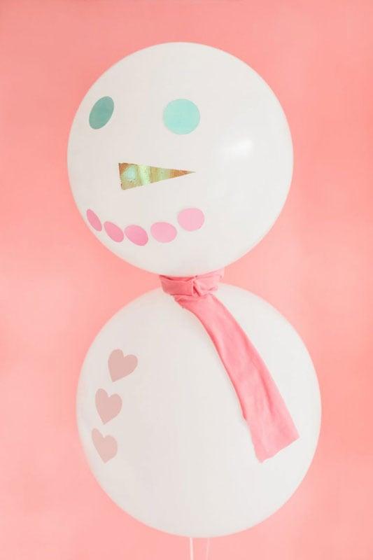 51 CUTEST Snowman Crafts | Balloon Snowmen