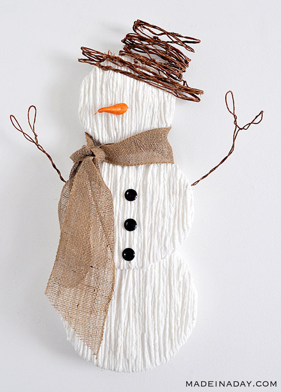 51 CUTEST Snowman Crafts | rustic country snowman craft