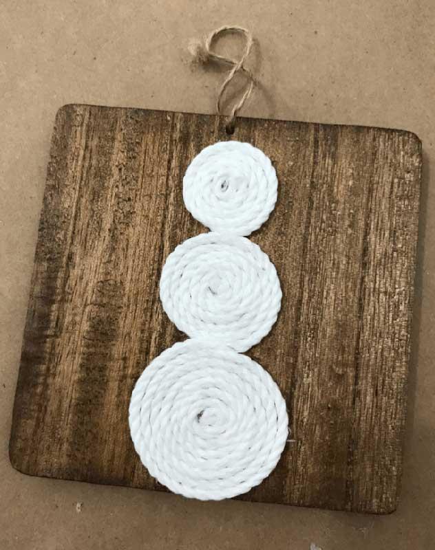 51 CUTEST Snowman Crafts | simple rustic snowman ornament