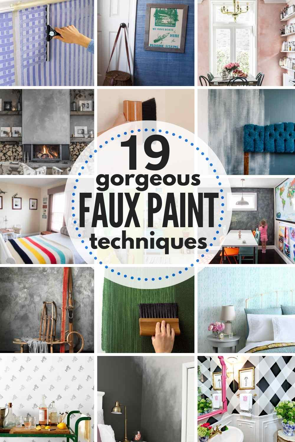 19 Gorgeous (and Timeless) Faux Painting Techniques for your Home