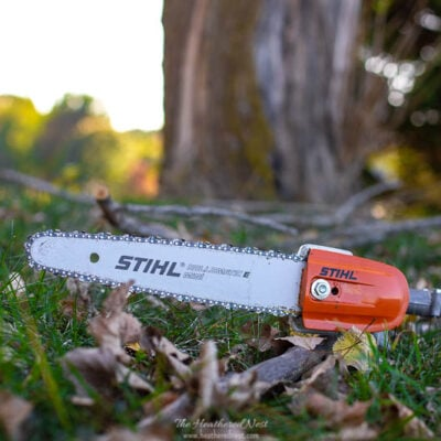 Fall Yard Clean Up Checklist and review of the STIHL Kombi System - one battery-powered tool set for 5 fall lawn care jobs