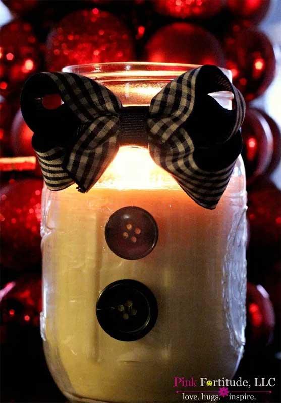 51 CUTEST Snowman Crafts | Mason Jar Snowman Craft