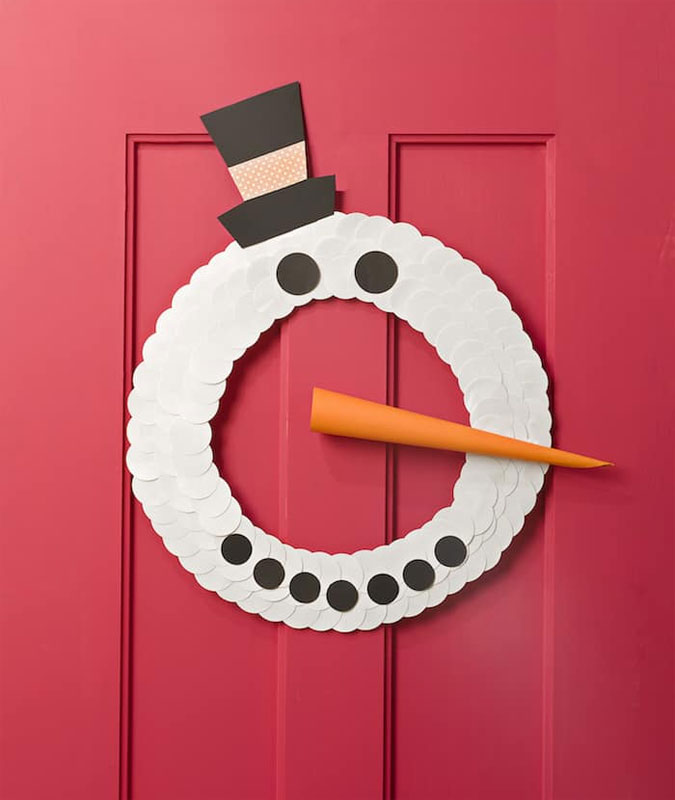 51 CUTEST Snowman Crafts | Easy DIY snowman wreath craft