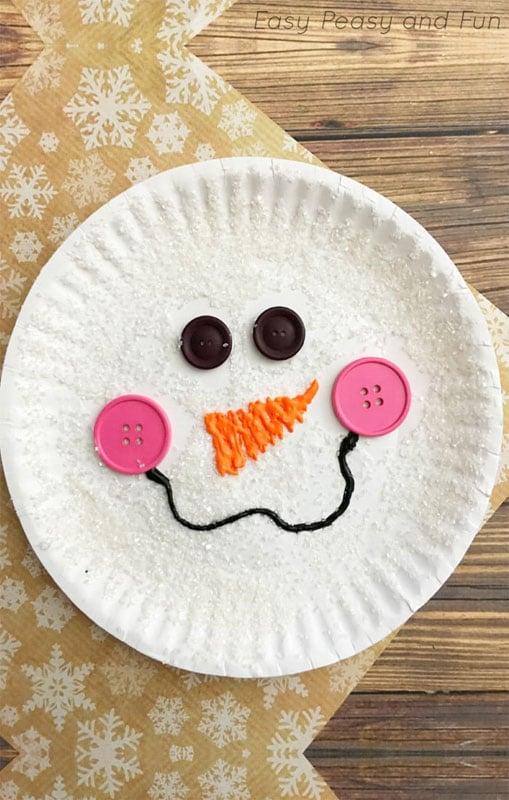 51 CUTEST snowman crafts | Easy Paper Plate Snowman Craft