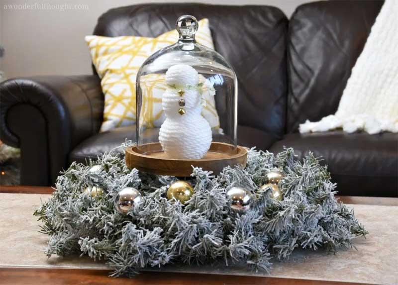 51 CUTEST snowman crafts | snowman in cloche
