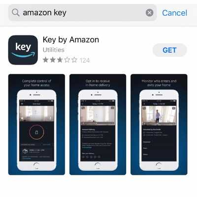 Icon seen in the Apple App Store for the Key by Amazon app which will be used to initiate in-garage delivery with the myQ-connected smart garage hub