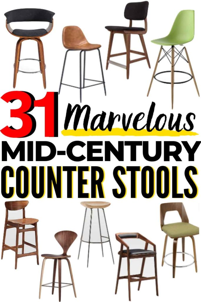 31 BEST Mid-Century Modern Bar Stools and Mid-Century Modern Counter Stools