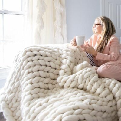 hand looped wool henley throw blanket