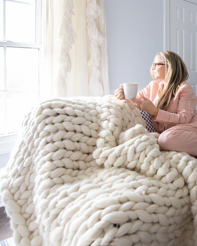 """Handwoven Wool """"Henley"""" Blanket"""