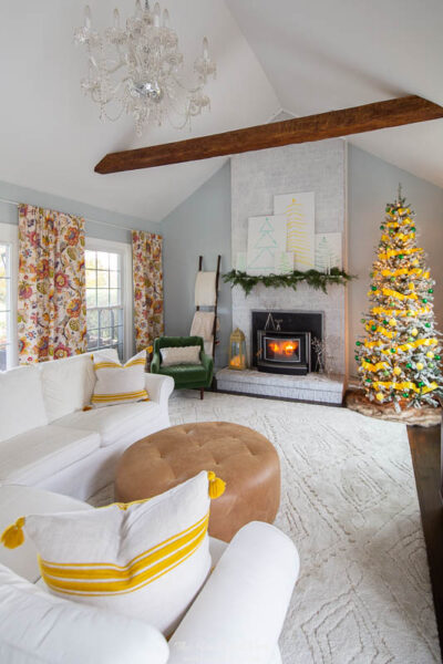 Yellow and Green Themed Christmas Tree Mohawk Holiday Home Tour 2019