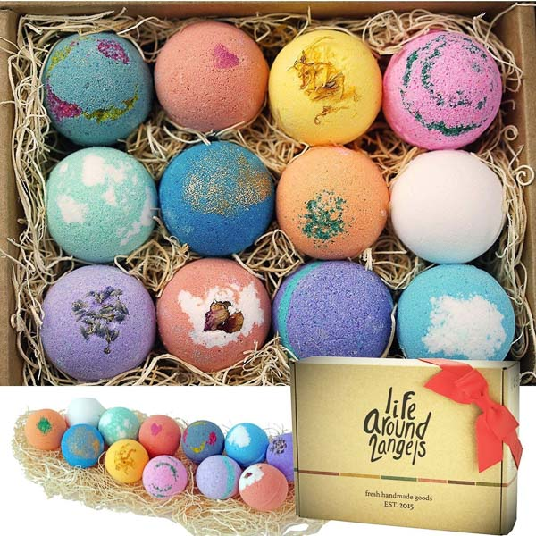 Natural bath bombs with super high Amazon ratings and reviews - One of the TOP TEN Gifts For The Woman Who Wants Nothing