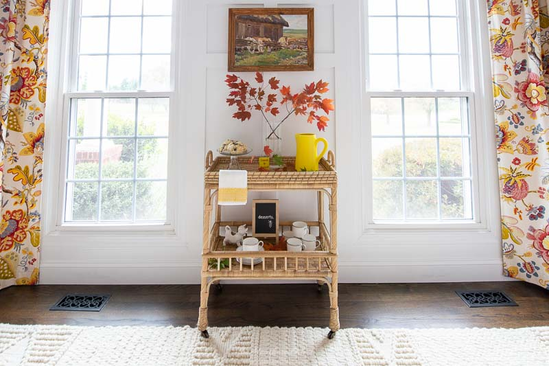 serena and lily macrame rug, south seas bar cart