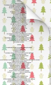 Free Printable Christmas Crossword Puzzle Wrapping Paper