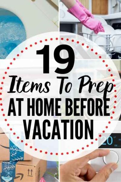 19 Things To Do At Home Before You Travel Checklist - free downloadable checklist