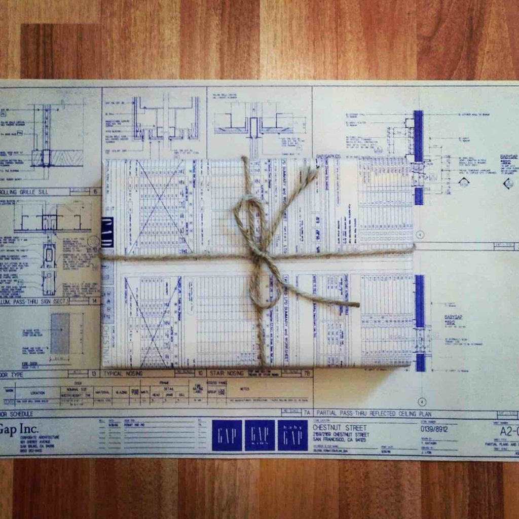 Engineer Drawings/Architectural Blueprints as Gift Wrap!