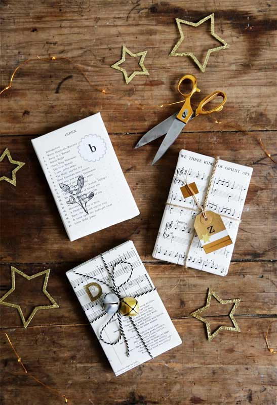 Reusable Wrapping Paper Ideas: sheet music