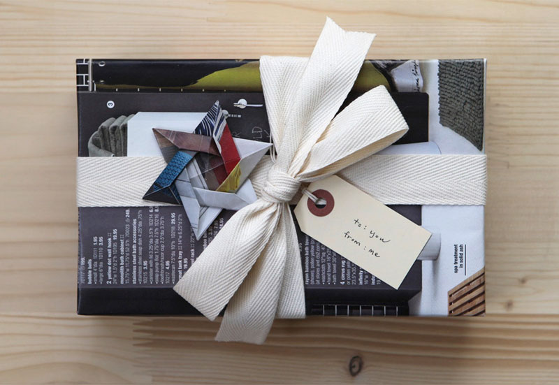 Reusable Wrapping Paper Ideas: repurposed magazine pages