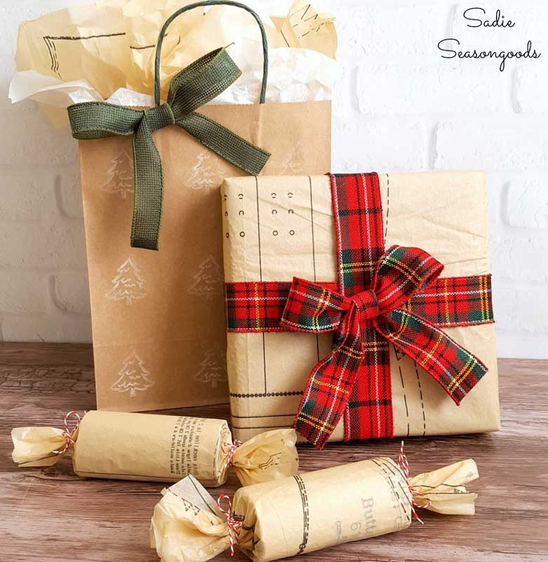 Reusable Wrapping Paper Ideas: vintage sewing pattern paper