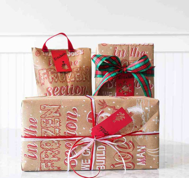 Reusable Wrapping Paper Ideas: gift bags made from shopping bags