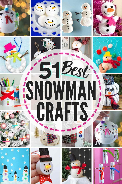 51 BEST Snowman Crafts!