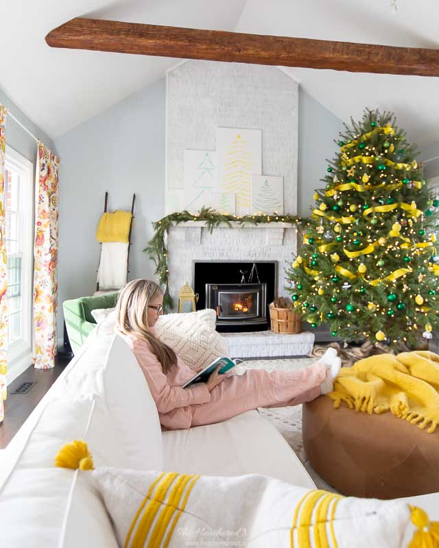 9 tips for winter hygge decor | use your fireplace!